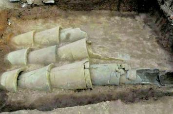 琅琊台考古有罕见发现 两千年前排水系统等亮相