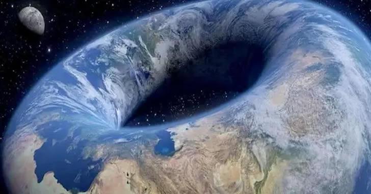 """地球是圆的?有学者认为地球是一个""""甜甜圈"""""""