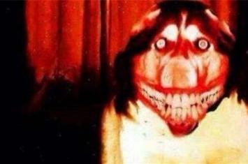 微笑狗图片吓人,1996年微笑的咧嘴哈士奇(毛骨悚然)