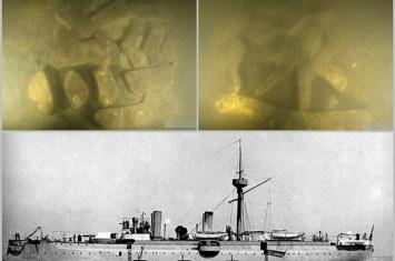 """辽宁大连庄河海域发现并确认甲午战争中遭日舰击沉的北洋水师""""经远舰"""""""