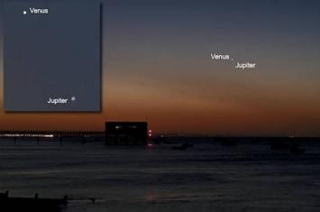 2019年1月22日金星合木星
