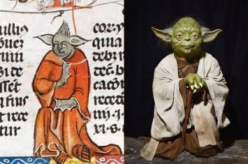 14世纪的手稿中发现外表与电影《星球大战》尤达大师极为相似的肖像