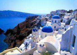 爱琴海上最美的小岛,希腊圣托里尼岛是蓝白色神话世界