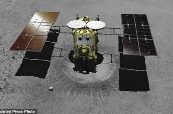 """日本深空探测器""""隼鸟2号""""(Hayabusa2)在""""龙宫""""小行星表面着陆"""