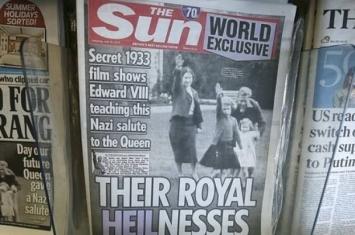 英女王纳粹手势照片流出 疑是内鬼外泄高价出售