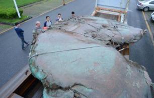 世界上最大的自然铜,长190厘米重达26吨/形似中国地图
