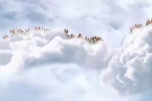 天空惊现玉皇大帝,北京天空出现天兵天将保驾护航(图片)