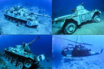 约旦南部红海沿岸潜泳胜地亚喀巴增添特别旅游景点:海底军事博物馆