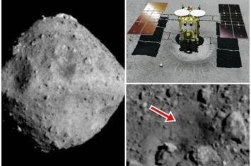 """日本隼鸟2号在小行星""""龙宫""""撞出陨石坑 成全球首例"""