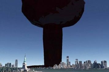 3D核武器地图(NUKEMAP 3D)模拟攻击世界上任何地方