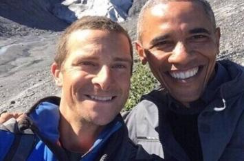奥巴马参与录制美国NBC电视台真人秀节目《荒野求生》 跟随贝尔·格里尔斯跋山涉水