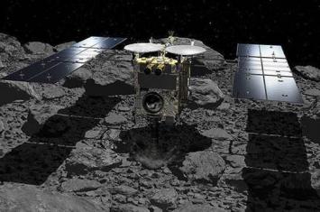 """""""隼鸟2号""""小行星探测器成功降落在小行星""""龙宫""""(Ryugu)表面"""