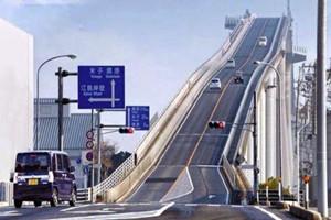 世界上最陡的桥,日本江岛大桥就像坐过山车一样刺激