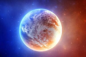 一亿年前的地球图片曝光,地球表面水火交融(生物难以生存)