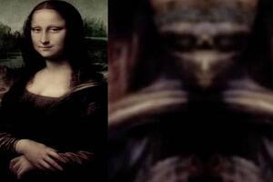 蒙娜丽莎的背后骷髅头,蒙娜丽莎的秘密外星人神似骷髅