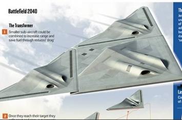 """英国公开名为""""变形金刚""""(Transformer)的新概念战机"""