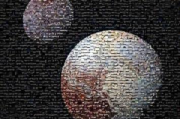 """NASA公布冥王星及其最大卫星卡戎照片 由""""冥王星时间""""活动中收集的照片拼接而成"""