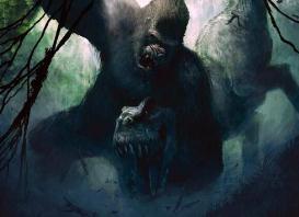 世界上最大的猿,巨猿高3米/重1200斤(活撕霸王龙)